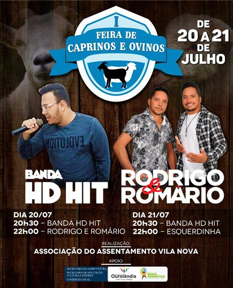 Shows na Feira de Caprinos e Ovinos